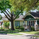 Row of Houses in Houston, TX, Neighborhood