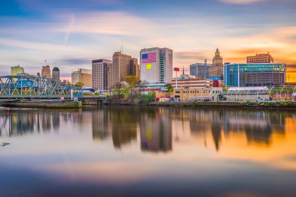 Downtown Newark Seen from Across the River