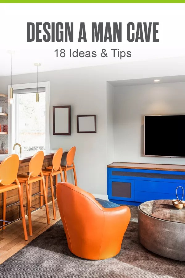 Looking for man cave ideas? From personalized signs and comfortable seating to smart tech and entertainment systems, here are 18 tips for creating your man cave at home! via @extraspace