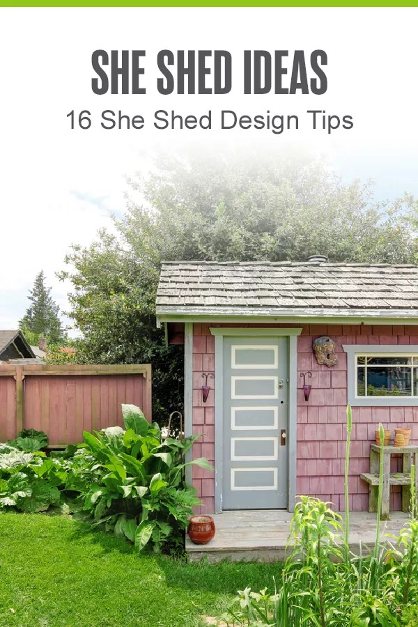From painting to finding cozy furniture, there are plenty of ways to style your she shed! Check out these 16 tips for designing and organizing your backyard shed! via @extraspace