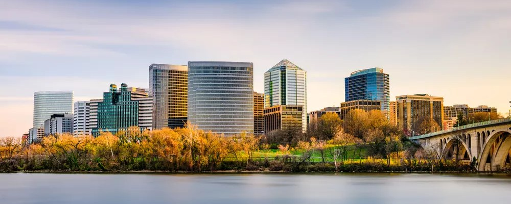 View of Downtown Arlington, VA Looking Across the Potomac River