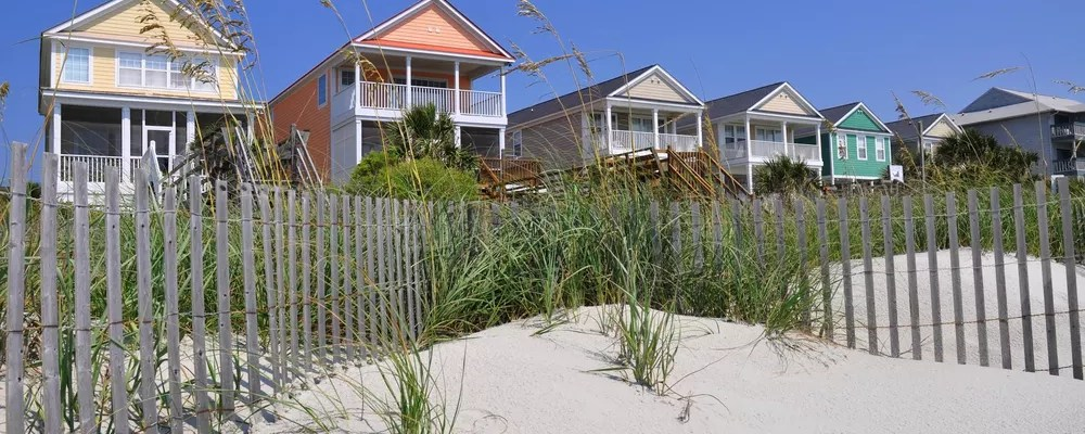 View of Homes on the Beach
