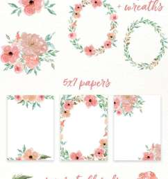 free watercolor flowers clipart floral wreaths 5x7 borders backgrounds use these free digital [ 800 x 2000 Pixel ]
