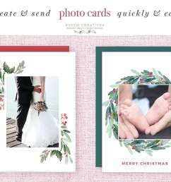 watercolor christmas wreath clipart christmas card templates 5x7 a4 digital borders frames  [ 1160 x 772 Pixel ]