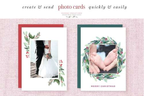 small resolution of watercolor christmas wreath clipart christmas card templates 5x7 a4 digital borders frames