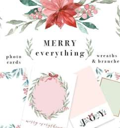 merry everything is a watercolor christmas card template wreaths clipart set it includes [ 1160 x 800 Pixel ]