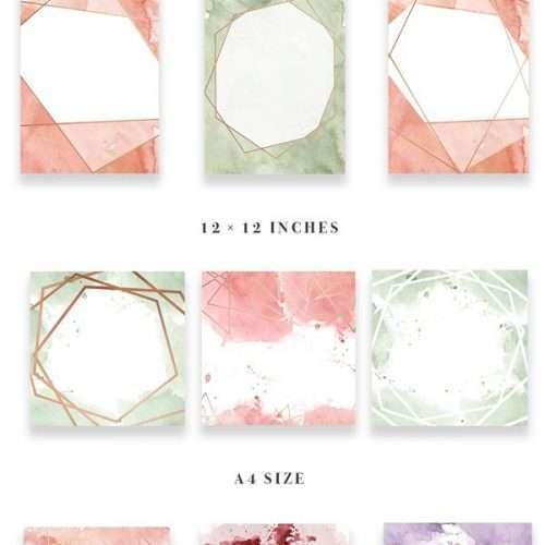Diy Geometric Watercolor Wedding