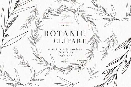 small resolution of botanical clipart botanical illustrations greenery wedding invitation templates eucalyptus branches olive branch