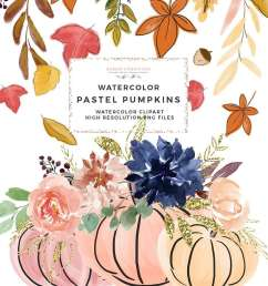 this is a set of fall pumpkins pumpkin vases autumn leaves and wreaths clipart [ 1000 x 1000 Pixel ]