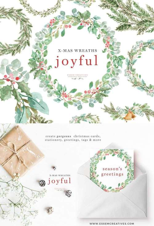 small resolution of this is a set of lush watercolor christmas wreath clipart set in a greenery leaves theme
