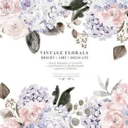 watercolor clipart dusty floral border flowers purple peonies peony flower roses fall mauve rose rustic borders graphics clip wedding autumn