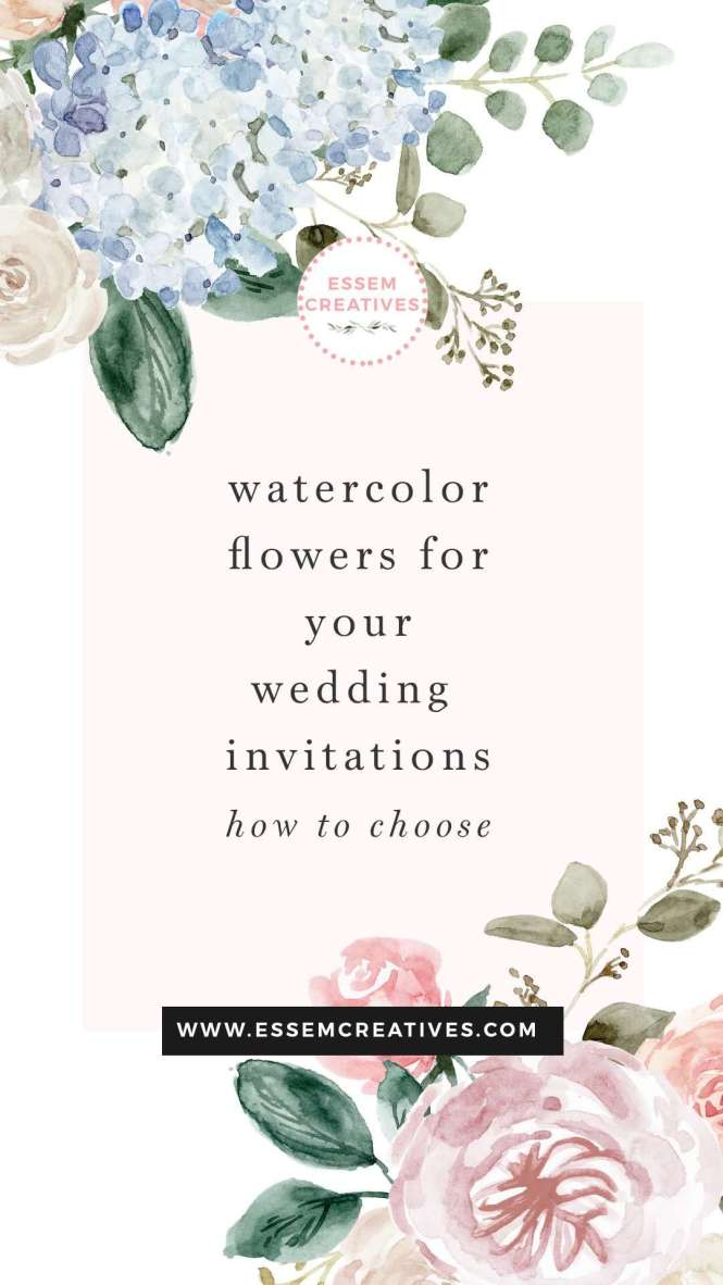 Watercolor Flowers For Wedding
