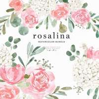 Rosalina Pink Peony White Hydrangea Flowers Clip Art, Watercolor Floral Clipart Graphics Sublimation PNG