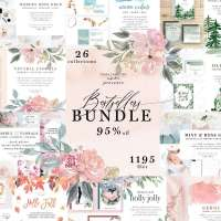 HUGE Watercolor Floral Clipart and Stock Photo Bundle - Bestsellers Bundle - 95% OFF