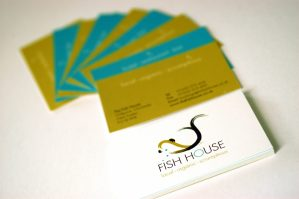 Fish Restaurant Business Card Design by Essence Design