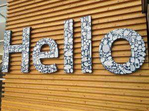 Tesco welcome typography