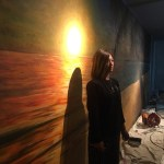 【手描き壁画夕暮れ風景画★海の家〜完成〜】@静岡県下田市『BAR Miami』様