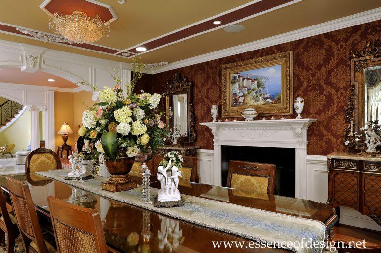 Potomac-MD-interior-designer-Shiva-Rostami-dining-room-elegant-traditional-custom-millwork-McLean-Virginia