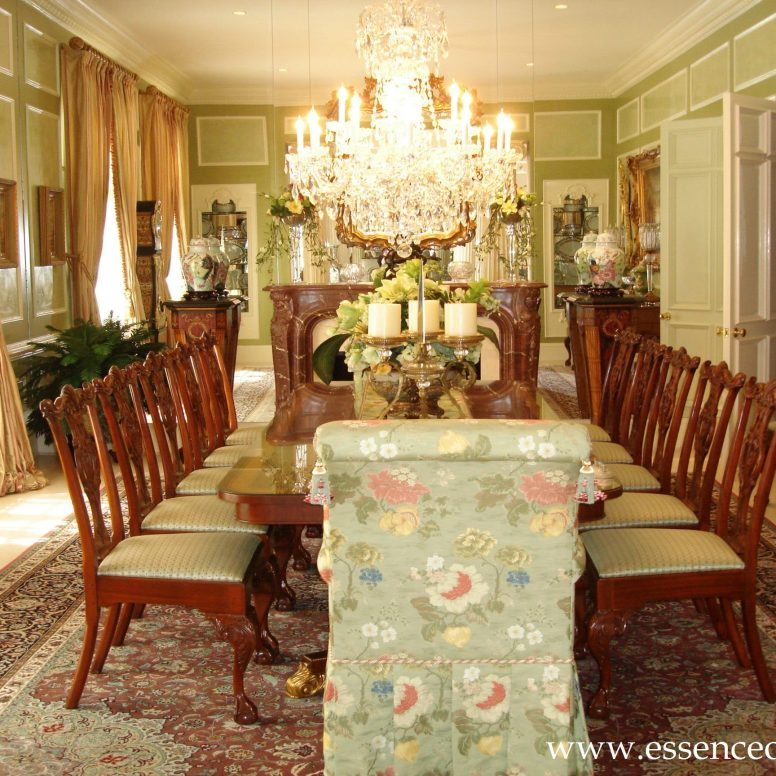 Potomac-MD-interior-designer-Shiva-Rostami-dining-room-mclean-virginia-traditional-marblex-walls