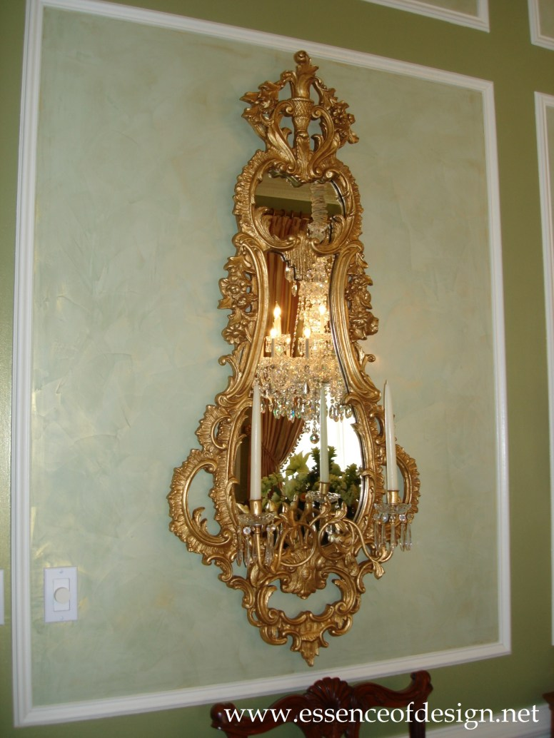 Potomac-MD-interior-designer-Shiva-Rostami-diningroom-elegant-traditional-mirror-sconce-McLean-Virginia