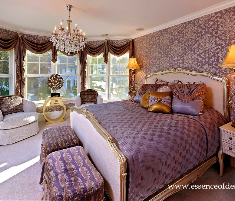 Potomac-Maryland-Interior-Designer-Shiva-Rostami-Chevy-Chase-master-bedroom-purples