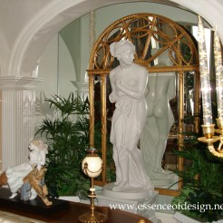 Potomac-Maryland-interior-designer-Shiva-Rostami-ballroom-living-room-grand-residence-McLean-VA-Statue