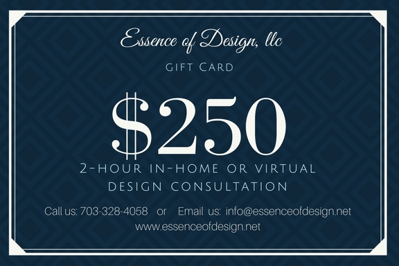 Essence of Design, llc, Gift card for in-home or virtual consultation