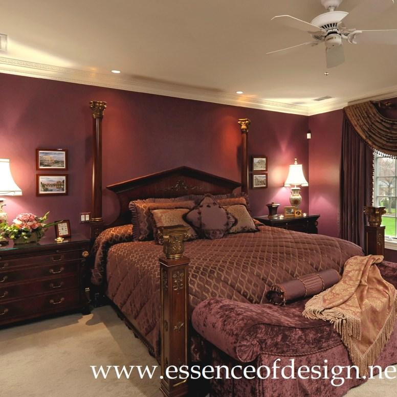 Aubergine custom bedding in McLean, Va