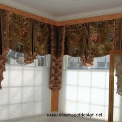 essenceofdesign.net-Potomac-Maryland-Interior-Designer-Shiva-Rostami-elegant-window-treatment-corner-valances-with-jabots