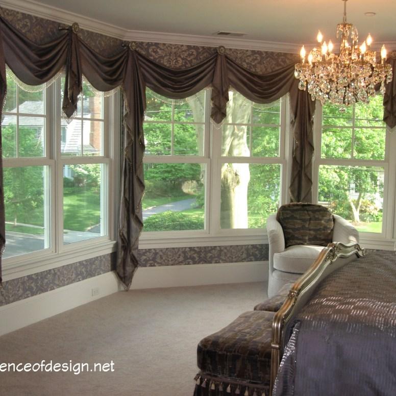 essenceofdesign.net-Potomac-Maryland-Interior-Designer-Shiva-Rostami-elegant-wrap-around-custom-window-treatment-ChevyChase-MD