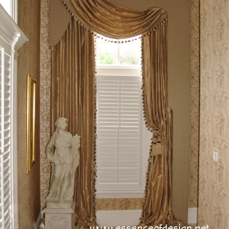 essenceofdesign.net-Potomac-Maryland-Interior-Designer-Shiva-Rostami-lambrequin-swag-silk-window-treatment-elegant-McLean-VA