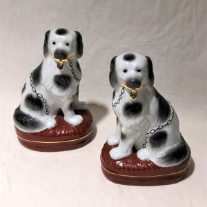 Porcelain Stafford Shire Dog Figurines