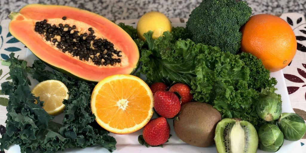 fruit and vegetable plate
