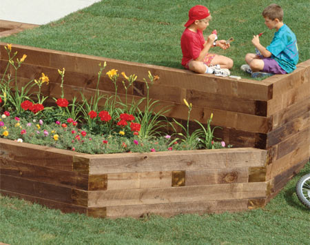 woodwork wood retaining wall ideas
