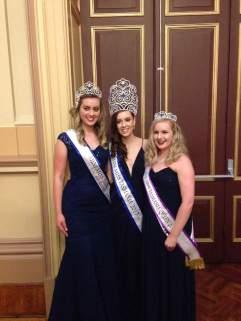 (Left to Right) Lexie, 4th runner up. Hannah, Mini Miss Tasmania 2017. Myself, Mini Miss Tasmania Queen.