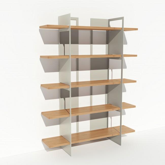 bibliotheque bois et metal sur mesure pixel