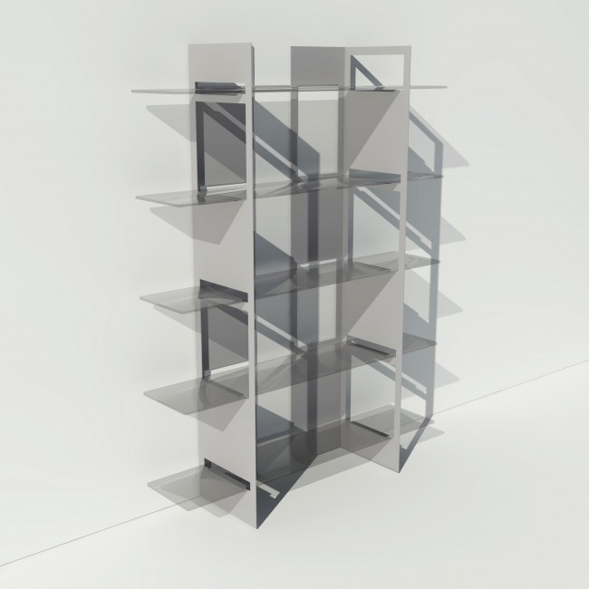 vitrine metal et verre sur mesure pixel
