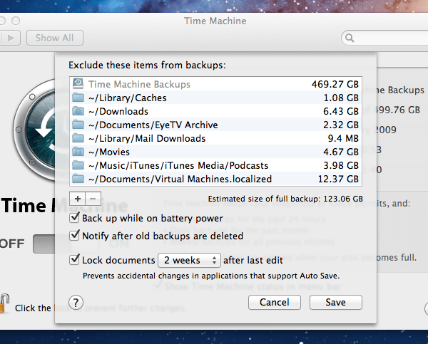 Time Machine Exlusion What Folders To Exclude From Time Machine Backups