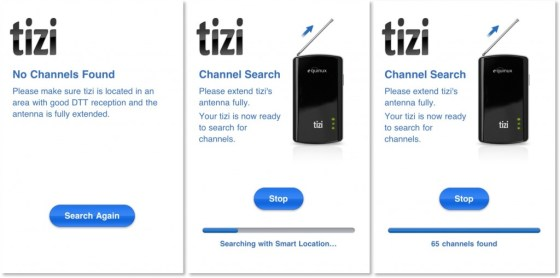 Tizi Channel Searching1 1024x510 Review : Equinux tizi Mobile Tv For iPad and iPhone Review (HANDS ON)