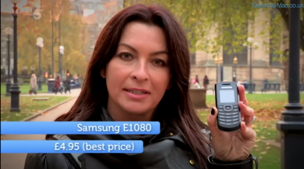 Gadget Show Suzi Perry iPhone 4s vs Samsung E1080 Gadget Show iPhone 4s vs Convergance Tech Special