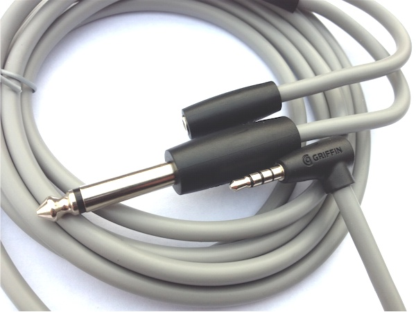 griffin guitar connect cable for ipad iphone ipod touch. Black Bedroom Furniture Sets. Home Design Ideas