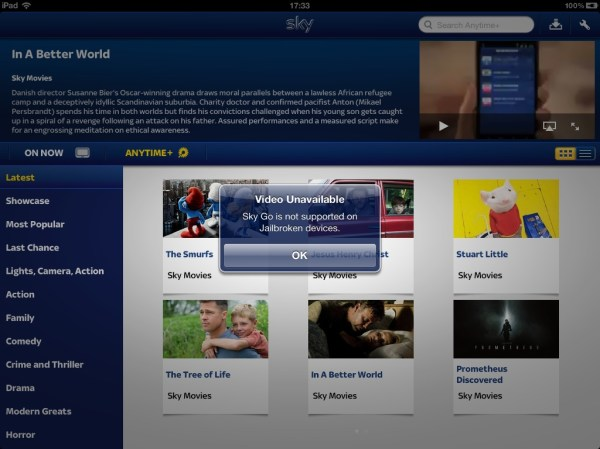 Sky Go Doesnt Like Jailbroken Devices How To Watch TV On Your iPhone or iPad