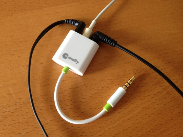 Macally Audio 3 with Headphones Reviewed : Macally Audio3 3 Way Headphone Splitter