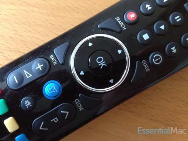 YouView Remote Closeup 600x450 Review, Hands On : YouView Humax DTR T1000 PVR with IP TV