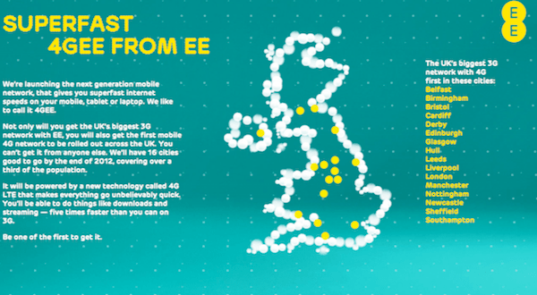 Everything Everywhere Coverage Map 4G EE and 4GEE Officially Available in 12 Cities Today