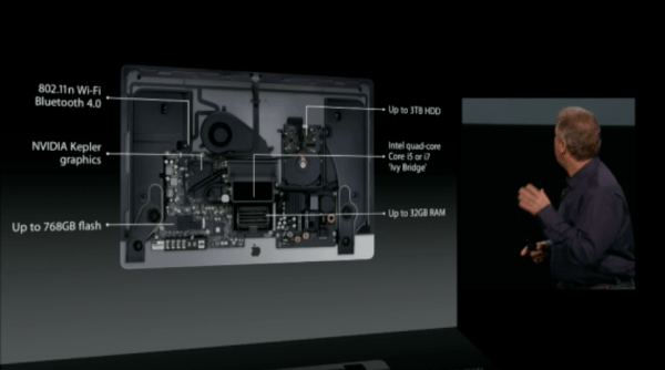 new imac internals 600x334 Apple Special Event  The Next Generation iMac   Crikey it's thin!