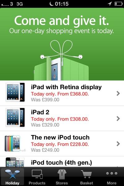 1353633405 Apple's 2012 Black Friday Sales