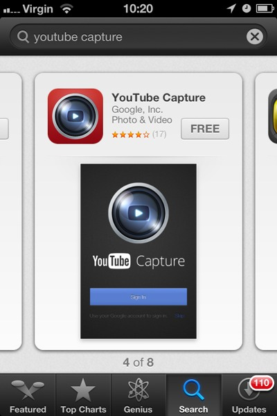 1355851330 YouTube Capture : Fewer Clicks To Shoot And Upload Video