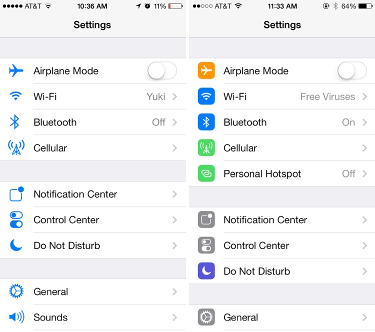 settings iOS 7 beta 5: Heres what Apple's Fixed : full change log now