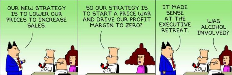 Dilbert Explains Price Wars Dilbert Explains Why Apple Doesnt Need To Release Cheaper Products